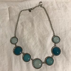 Charming Charlie Blue Circular Statement Necklace